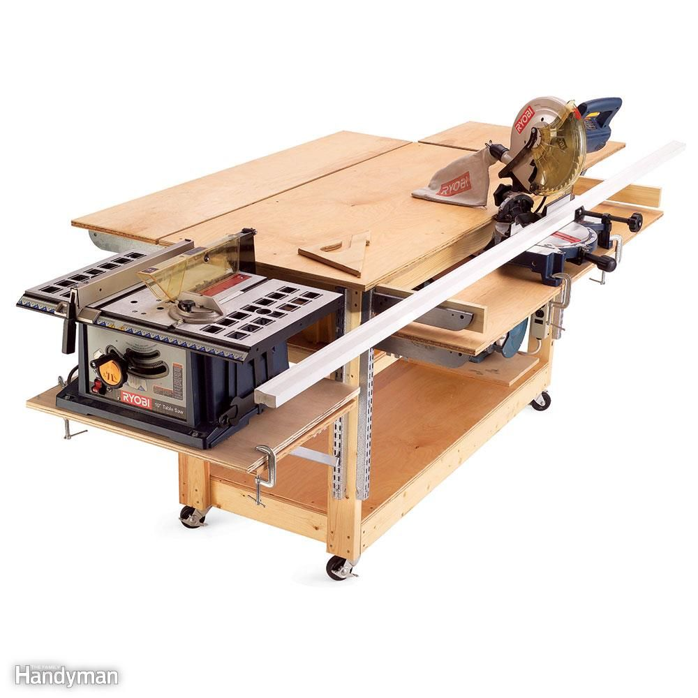 11 easy garage space saving ideas rolling workbench parking space and swiss army knife - Space saving garage shelves ideas must have ...