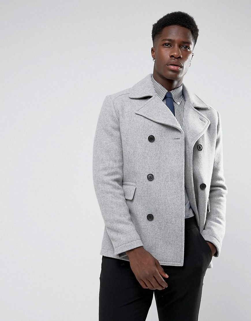 3a9e75de8b51 Selected Homme Wool Mix Peacoat - Gray