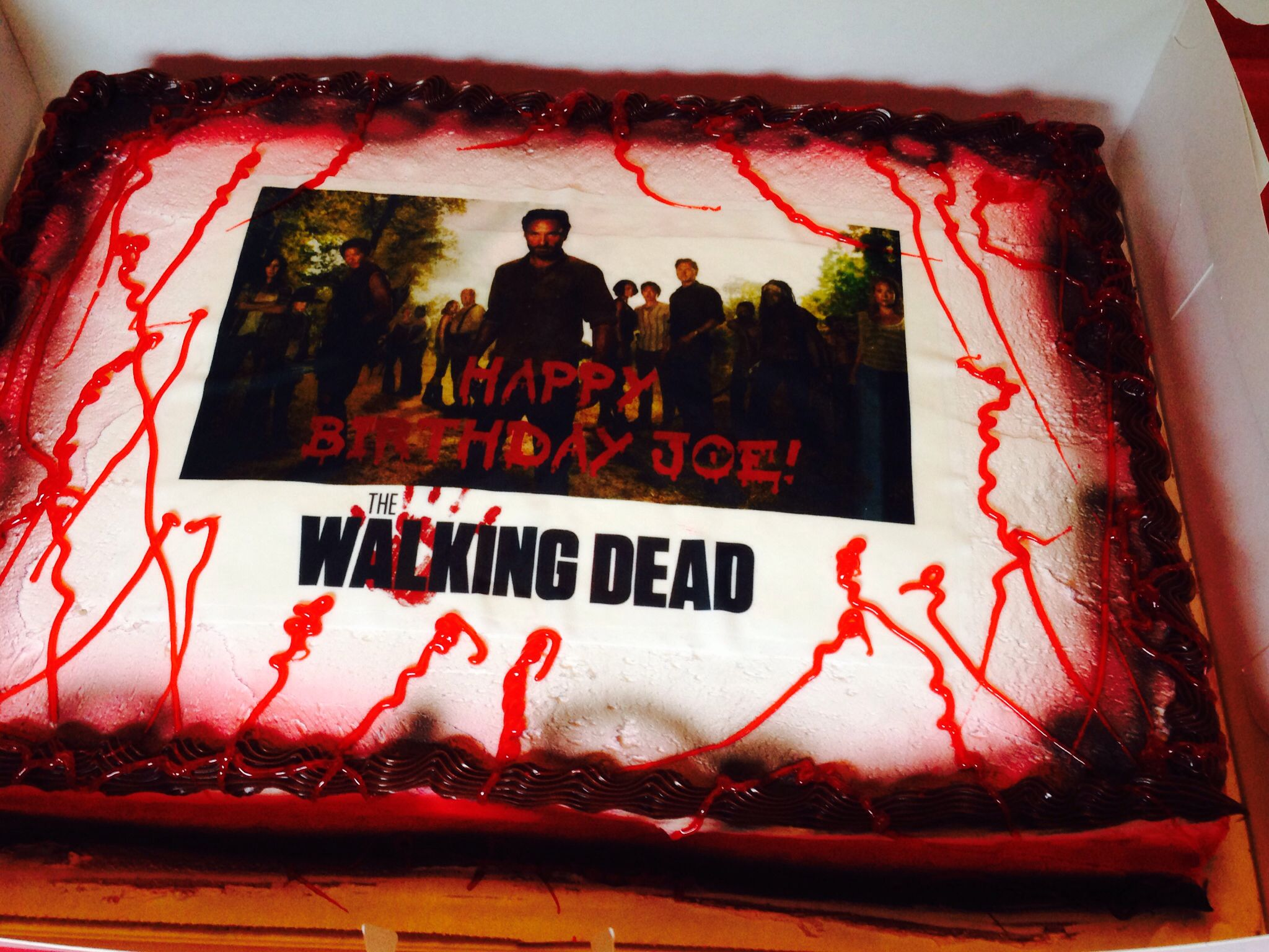 Here Is The Walking Dead Birthday Cake Created By Angelas Design