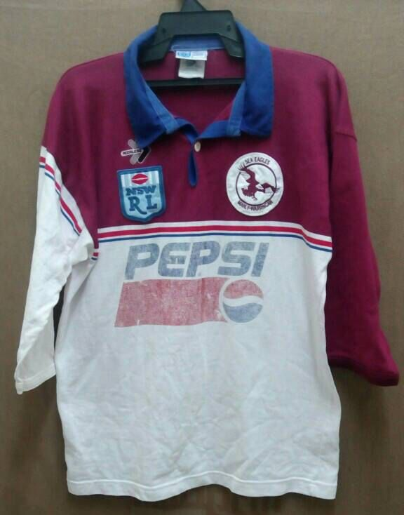 Vintage 1993 Australian Rugby Shirt #Pepsi Big Sponsor  NSW RL Sea #Eagles #Manly,  View more on the LINK: 	http://www.zeppy.io/product/gb/3/260979513/