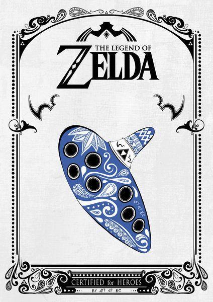Legend of Zelda Itens Poster 2