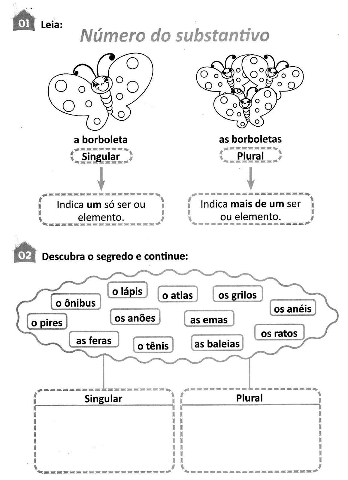 Atividades De Portugues Singular E Plural Atividades Com O