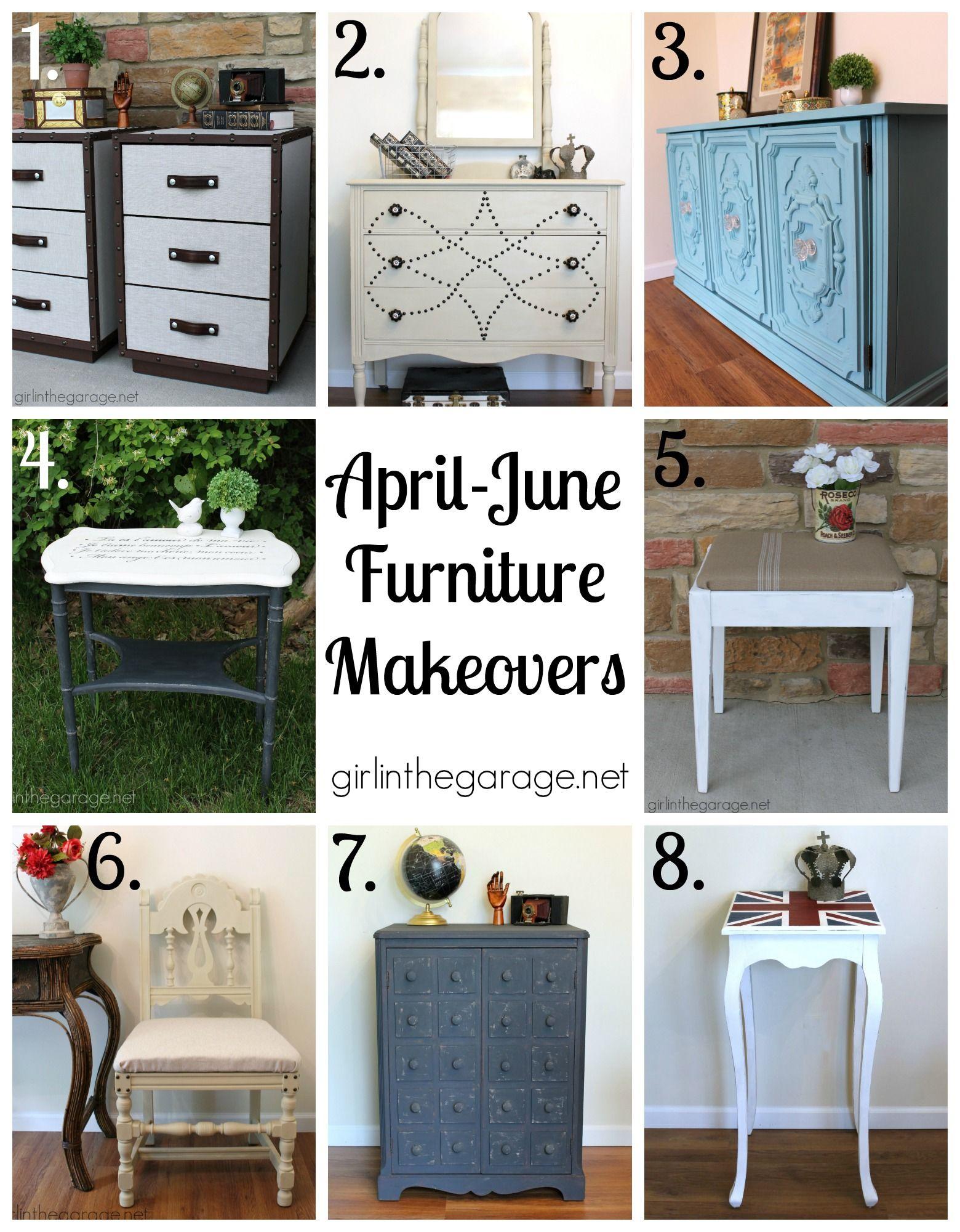 The best furniture makeovers, DIY, and decor posts for April-June 2015. girlinthegarage.net