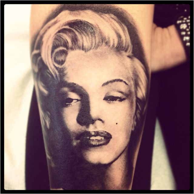 Marilyn Monroe Forearm Tattoo By Rich Wren