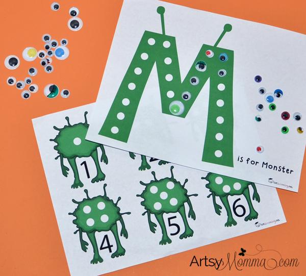 M Is For Monster Math Science Preschool Activities