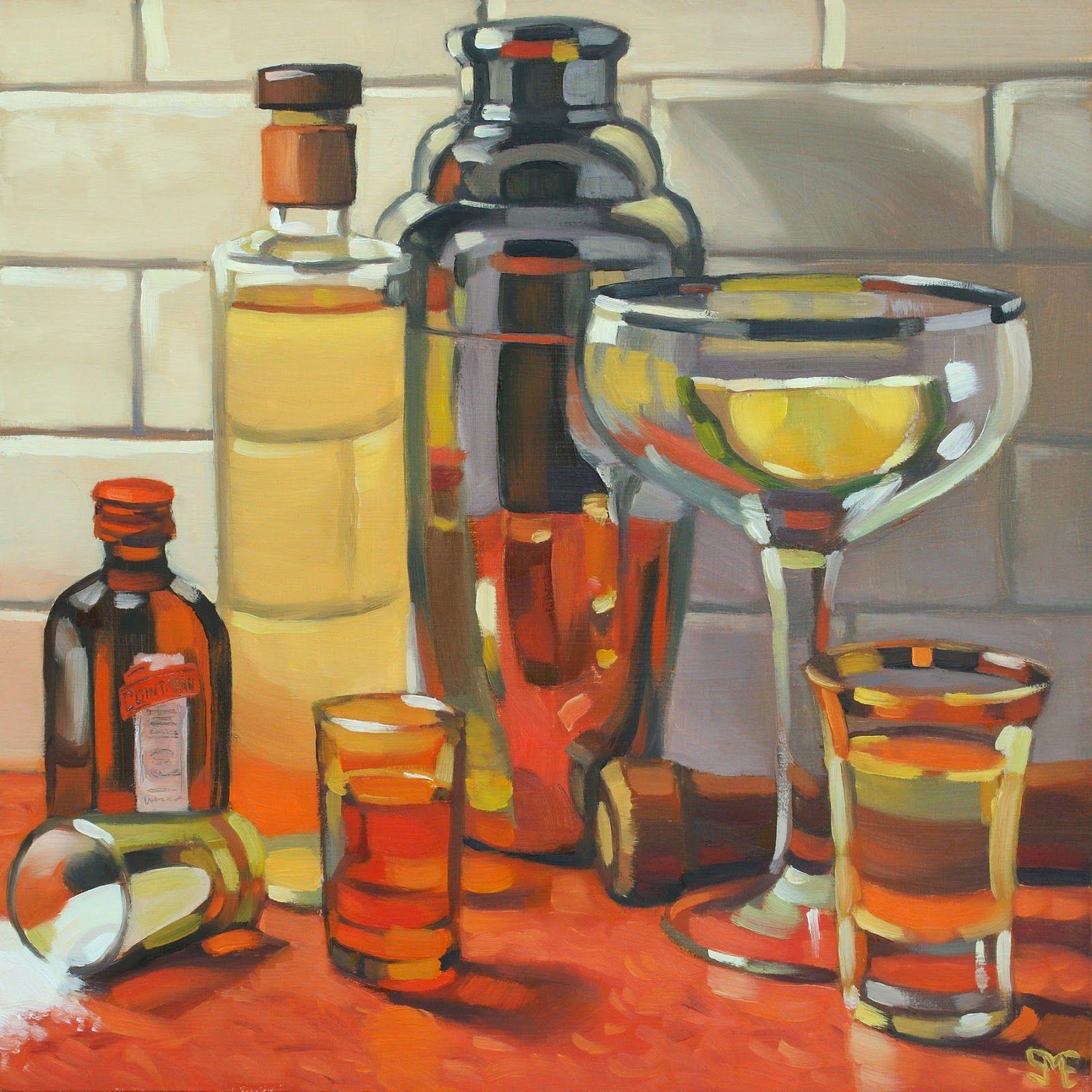 Sheila Evans Everyday Margarita Original Fine Art Art Painting