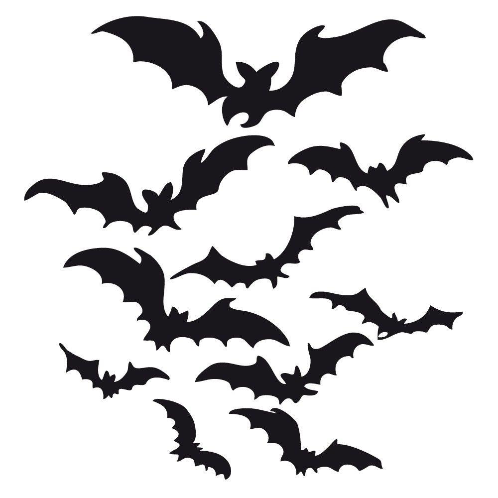 Fledermäuse zu Halloween, kostenlose Schneidedatei von ...