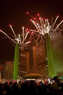 Fireworks City Hall Toronto Toronto City City Hall City