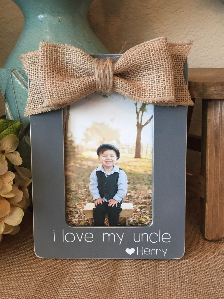 Aunt And Uncle Personalized Picture Frame Board Gift For New Baby