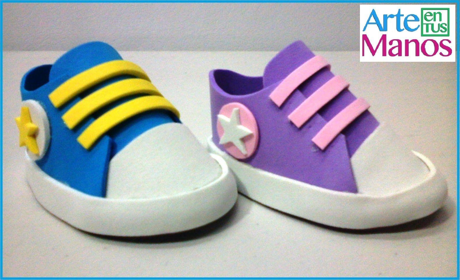 Zapatos Hechos En Foami O Goma Eva Para Baby Shower Scarpe Bambino Scarpe Neonato Tutorial