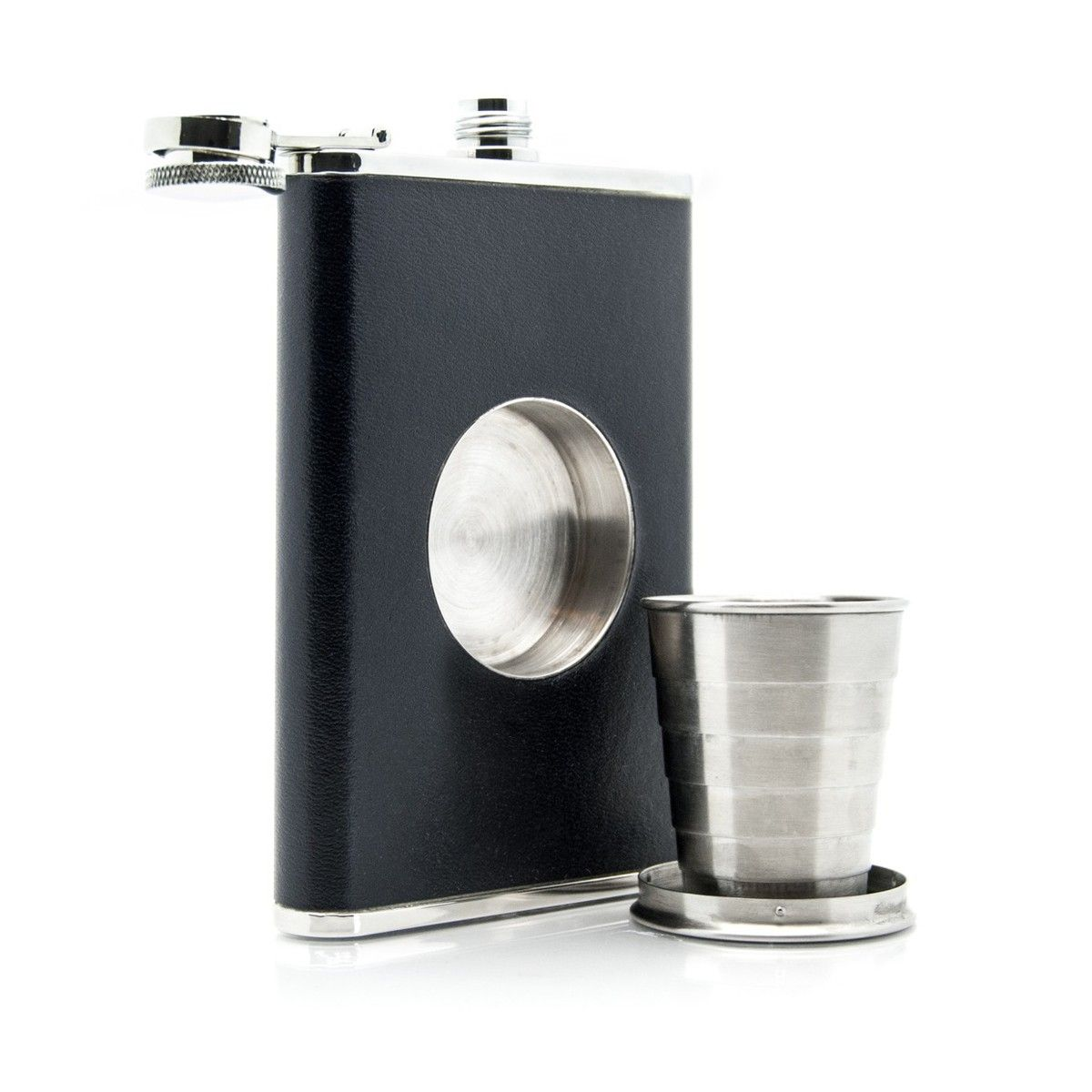 flask with a retractable shot glass - awesome gift for the groomsmen ...