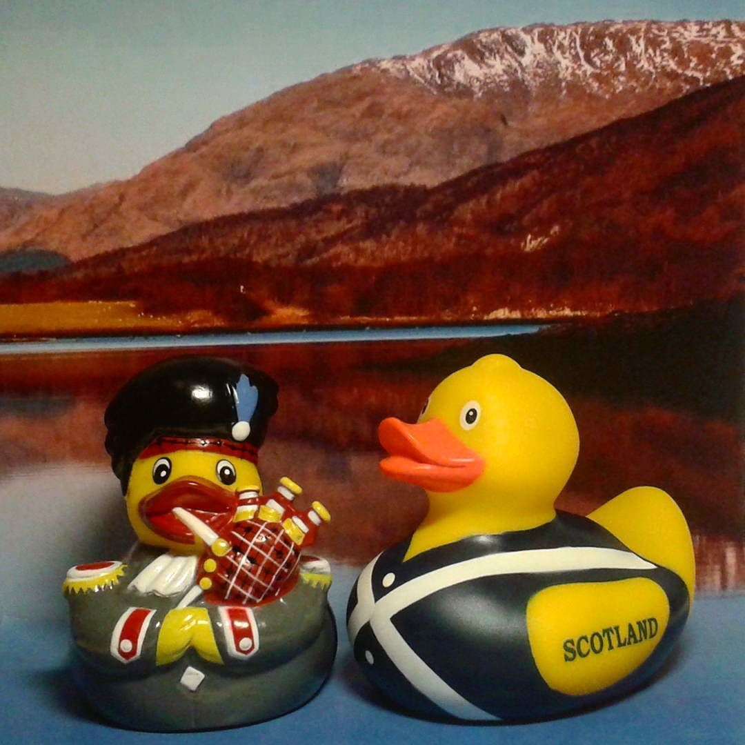 In the beautiful landscape of Scotland proud Scotsmen Cailean and ...