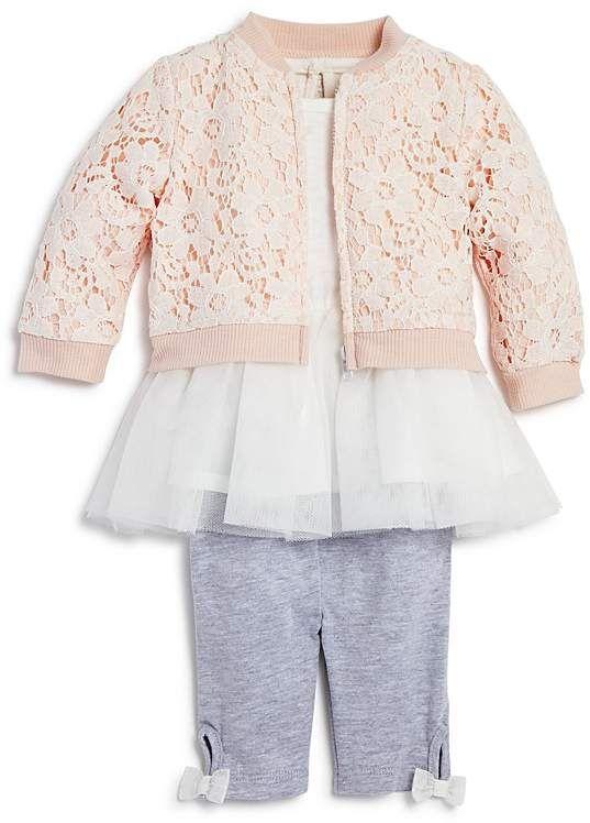29c270e34 Miniclasix Girls' Lace Bomber Jacket, Tutu Top & Capri Leggings Set - Baby  #babygirl, #promotion