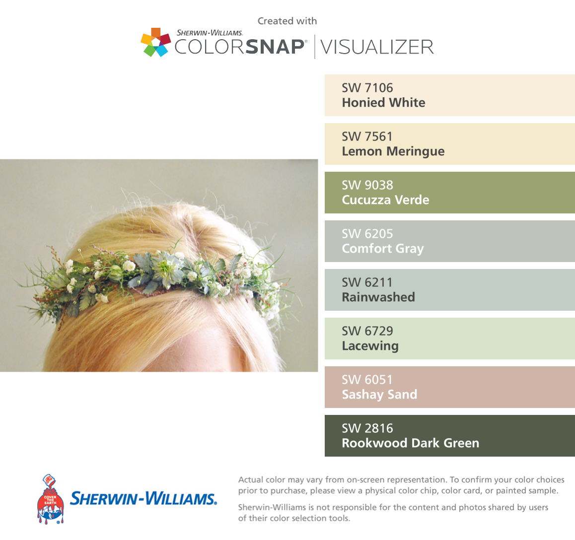 crown of floral wreath sherwin williams honied white sw 7106