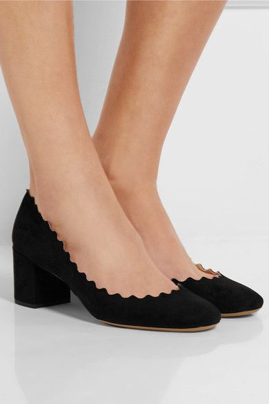 Chloé Scalloped edge pumps th53U