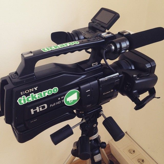 Ready for action! #tickaroo #newcamera #brandstickers  #livestream #hightech #soexcited #hd- This is the Camera we use when we are asked to livestream on location.