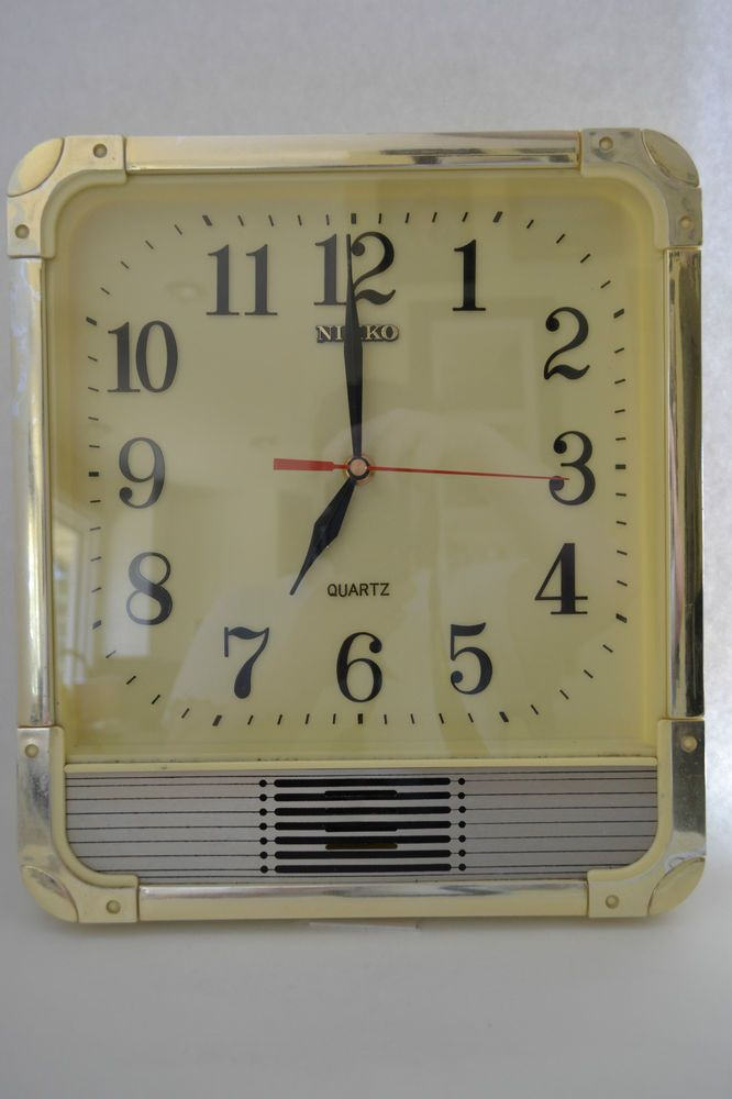 UNIQUE VINTAGE Nikko Quartz Kitchen Wall Clock Mid Century RETRO ...