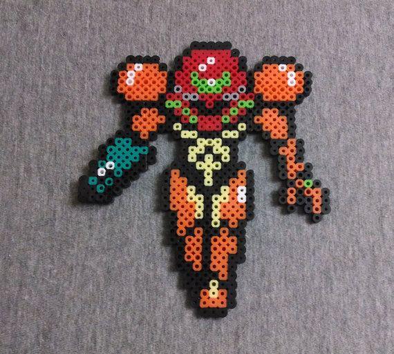 Samus Perler Bead Sprite - Super Smash Bros. - Metroid ...