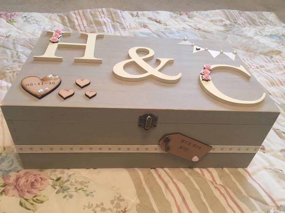 Details About Personalised Luxury Wedding Wooden Memory Keepsake