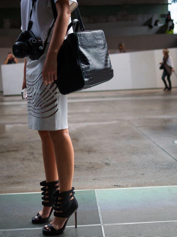 Nice bag and shoes.