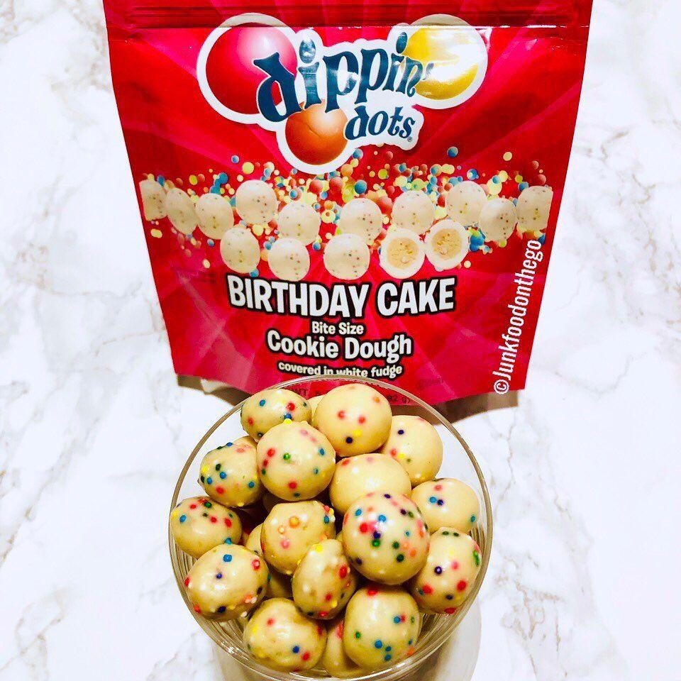 Cool Junkfoodonthego On Instagram Dippin Dots Birthday Cake Cookie Funny Birthday Cards Online Kookostrdamsfinfo