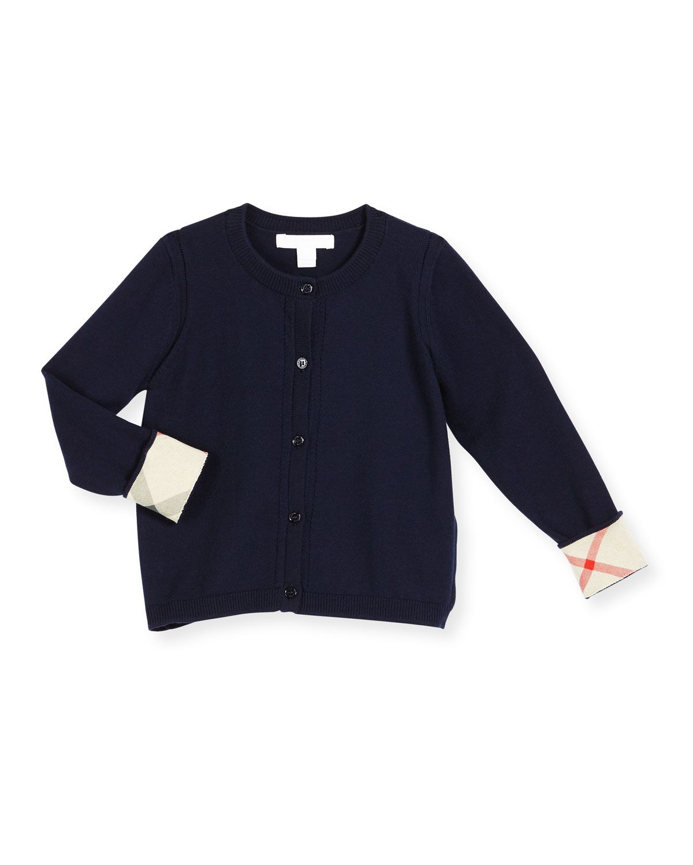 6cd57395568 Rheta Check-Cuff Cotton Cardigan