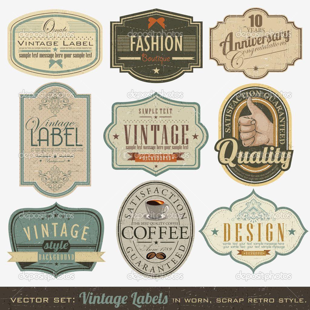 Vintage Lables 87