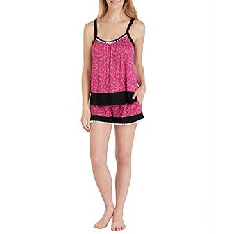 Layla® Tank And Boxer Knit Pajama Set