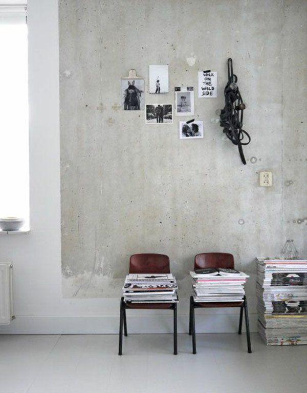 Wandfarbe Beton Wie Kann Man Eine Betonwand Streichen Anat