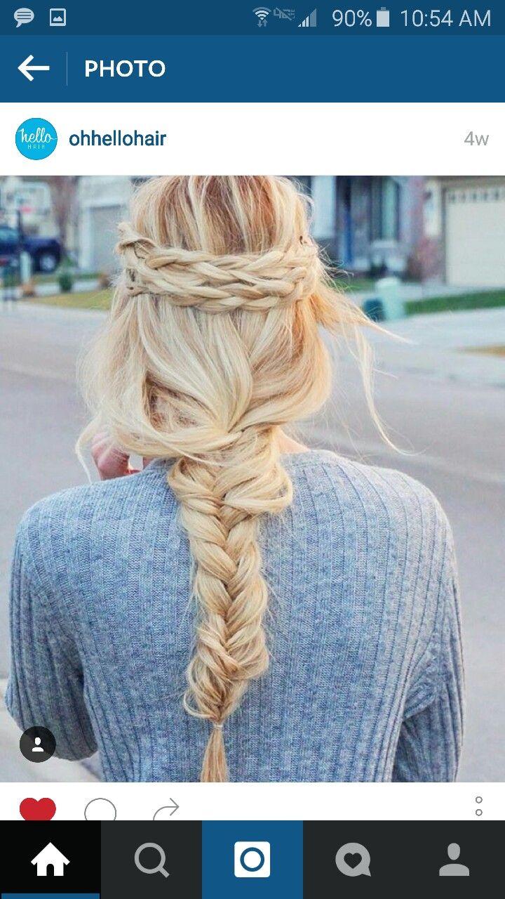 Creativo peinados informales Fotos de tendencias de color de pelo - Pin de Inglis Towe en Blonde Hair | Peinados con trenzas ...