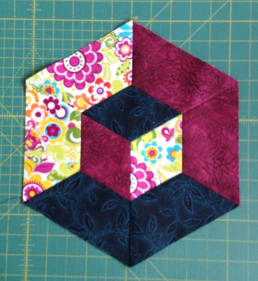 Image result for 3d patchwork blocks   Quilt  Sew   Tumbling blocks