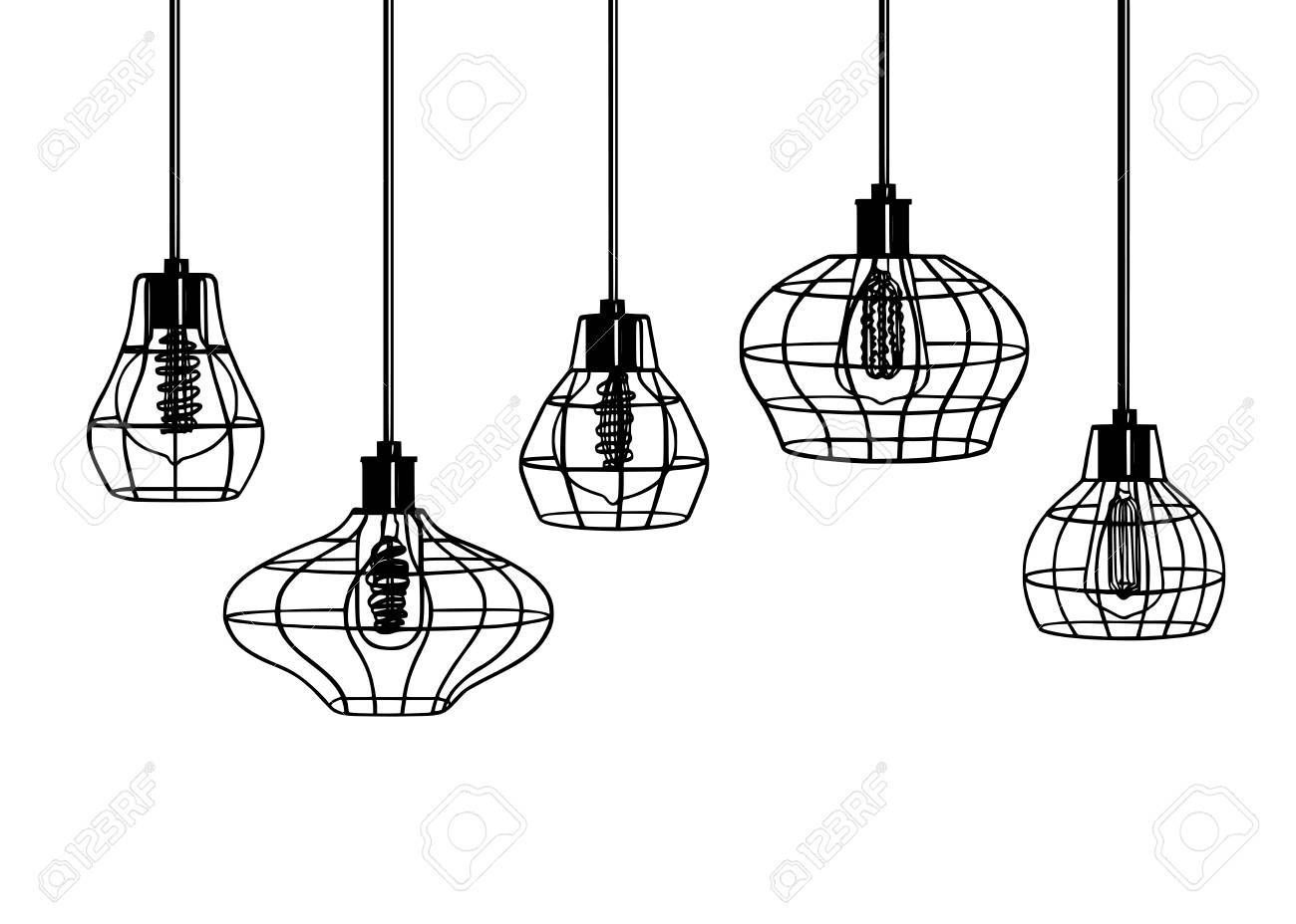 Industrial Style Retro Pendant Lights Set Of Vintage Pendant Lamps Hanging Lamp With Edison Bulb Black Retro Pendant Lights Vintage Pendant Lamp Lamp Decor