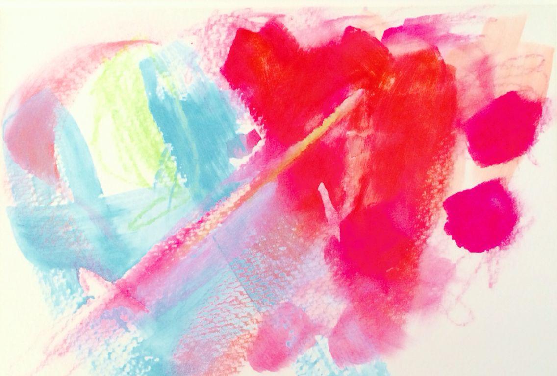 acrylic and crayon on watercolor paper jenny harrington