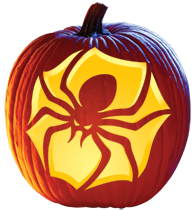 aimless moments brown recluse spider pumpkin carving template