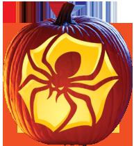 Printable pumpkin carving template spider architecture modern idea •.