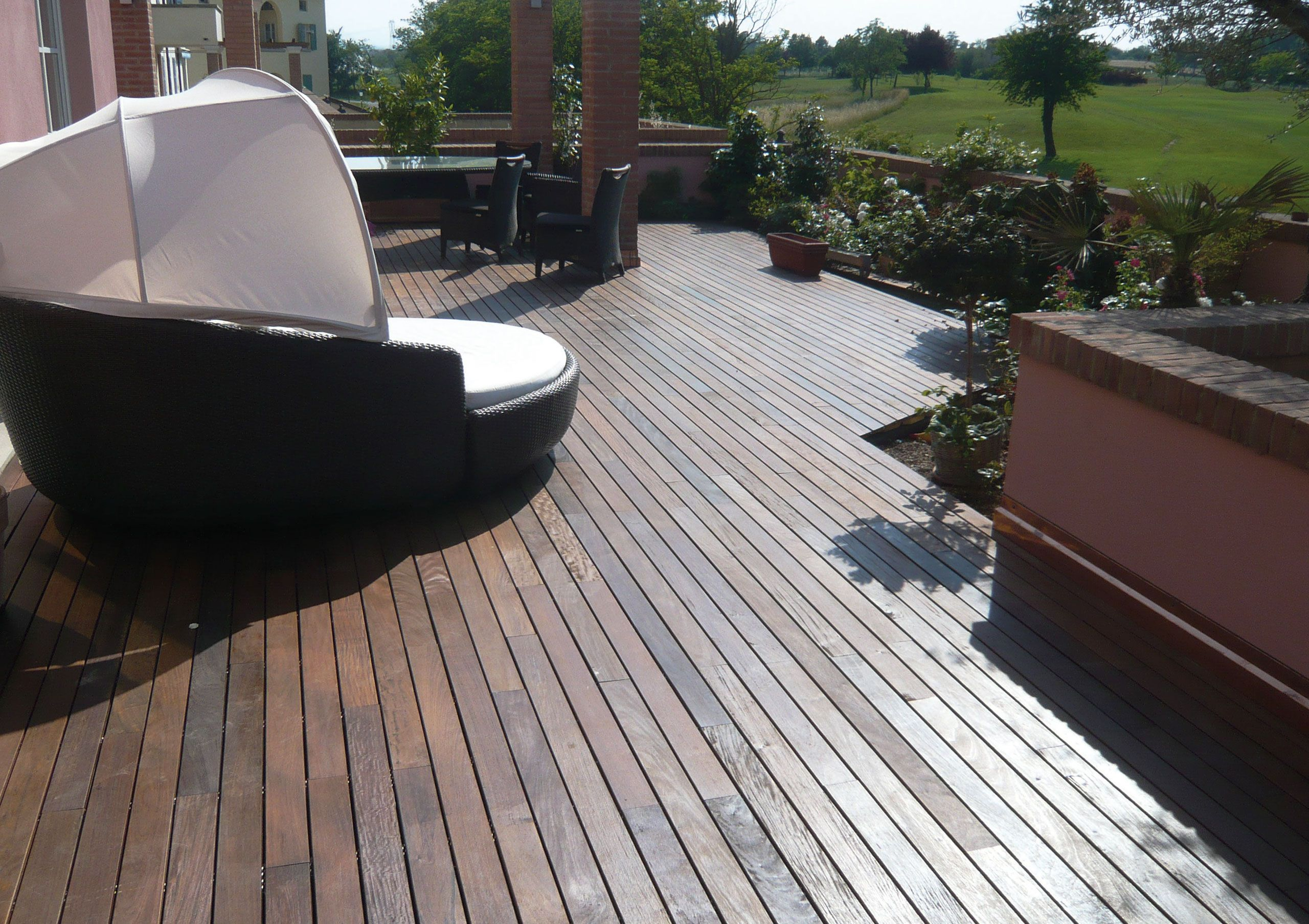 Rubber Coated Wood Deck Canada Outside Flooring Deck Wood Deck