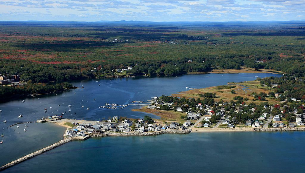 Areal View Of Camp Ellis Beach Blue Pearl Cottage Saco Maine Pinterest Camping And Ocean
