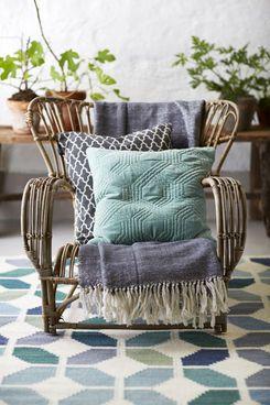 Classic Collection Tropical Teppich Aus 100% Wolle, Handgefertigt ... Wohnzimmer Deko Blau