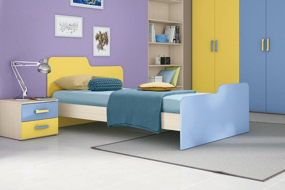Colombini Camerette ~ Camerette target scrivania in olmo bianco azzurro lavanda e