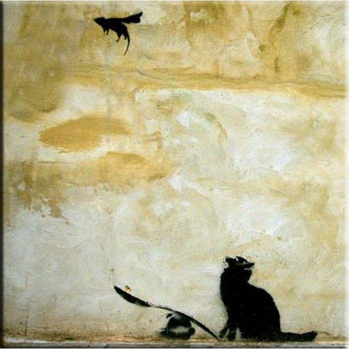 Banksy Canvas Print - Cat And Mouse | Banksy canvas prints, Banksy ...