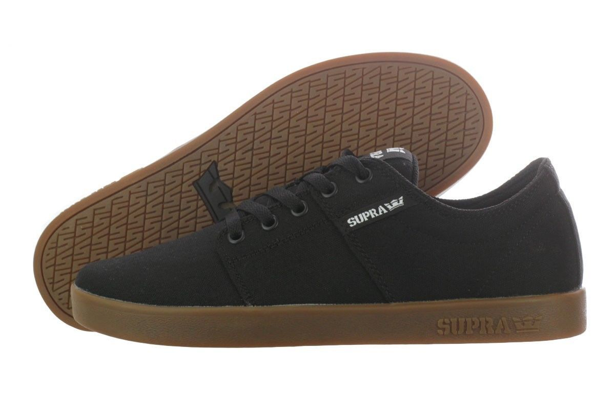 Supra Stacks 2 Low Top Black Gum Men Shoes S45073 | eBay