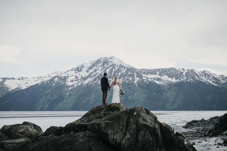 Elopement in Front of Glacier | Alaska wedding, Glacier