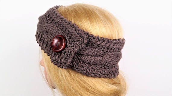 Merino Wool Turban,Brown Ear Warmer,Winter Headband, Ear Warmer ...