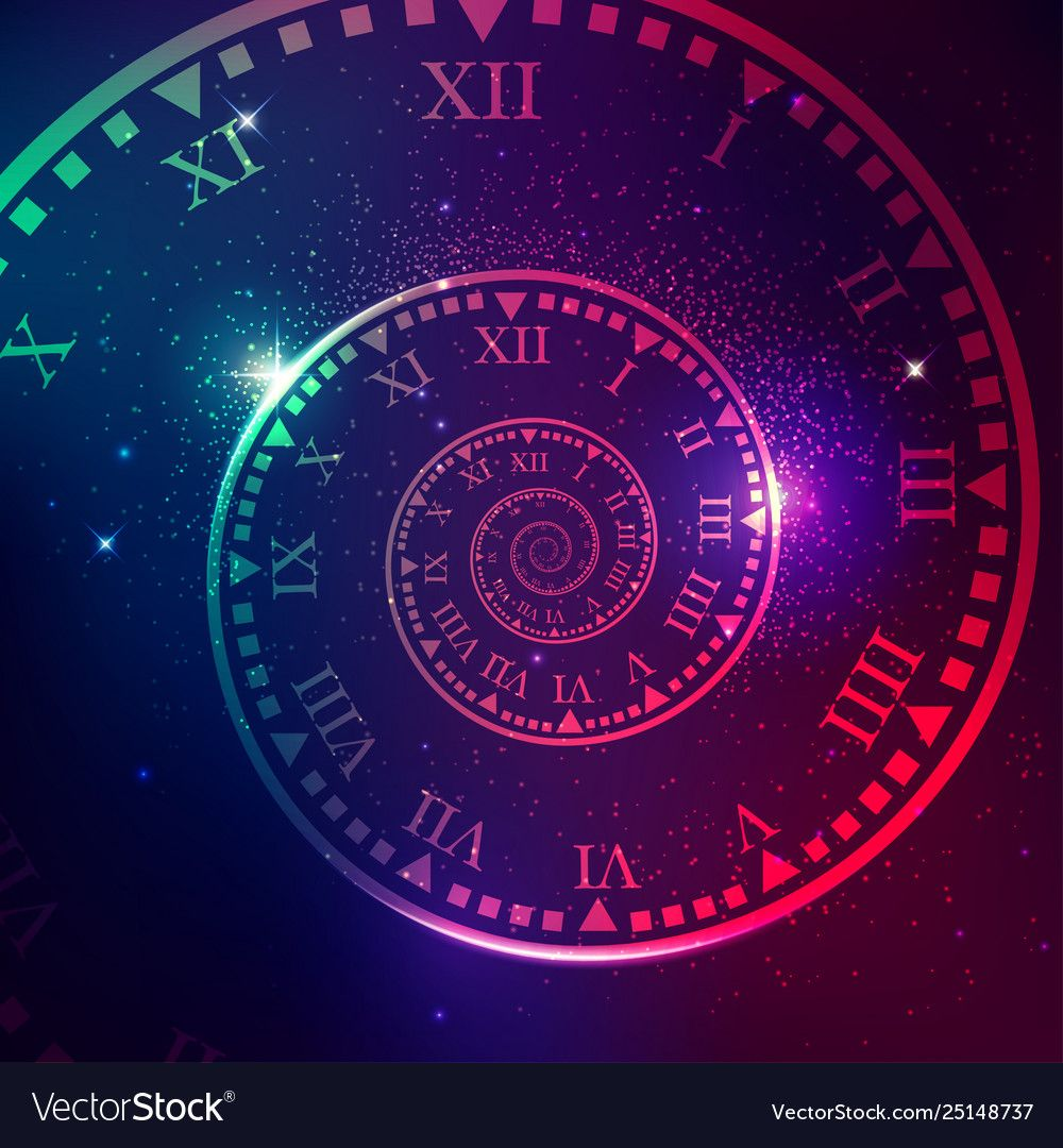 Concept Of Space Of Time In The Universe Spiral Clock With Galaxy Star Background Download A Free Preview Or High Quality A Time Tattoos Galaxies Stars Clock