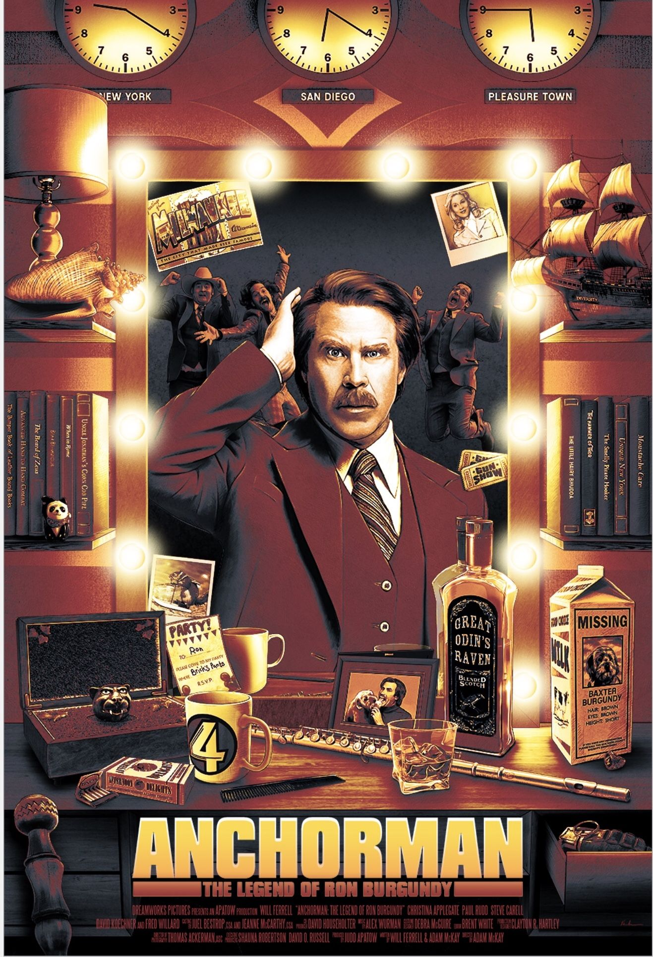Pin By Nawrotowiec On Movie Posters Movie Posters Alternative Movie Posters Ron Burgundy