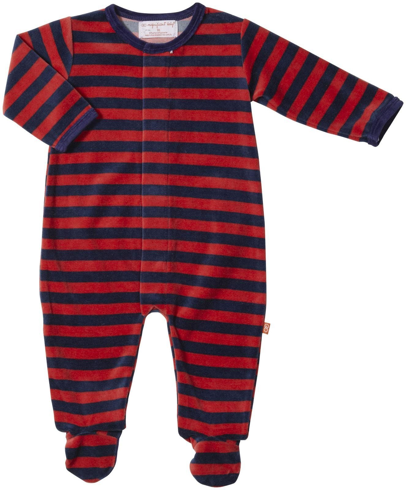 Magnetic Me by Magnificent Baby Velour Footie Baby Red Newborn