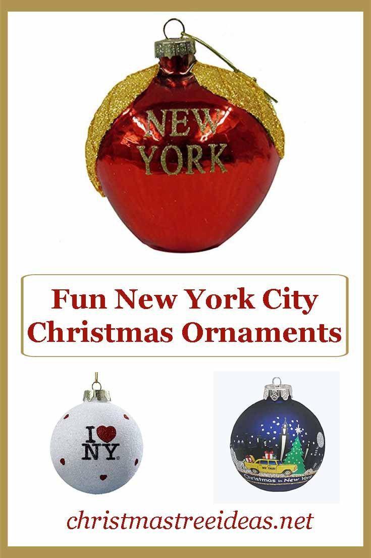 Fun New York Themed Christmas Ornaments   Christmas ...