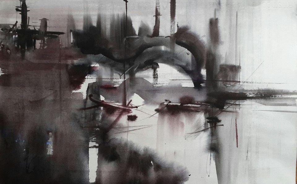 Tansu Ozmen watercolor demo