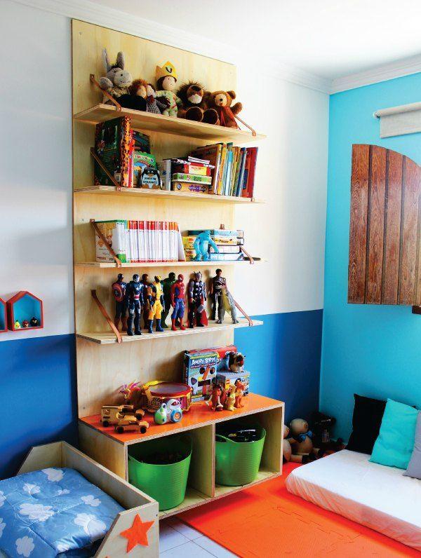 Dormitorio infantil con rinc n creativo habitaciones de ni o decora o de casa moveis y - Organizar habitacion ninos ...