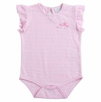 EPK   Body de rayas blancas y rosadas de algodón.